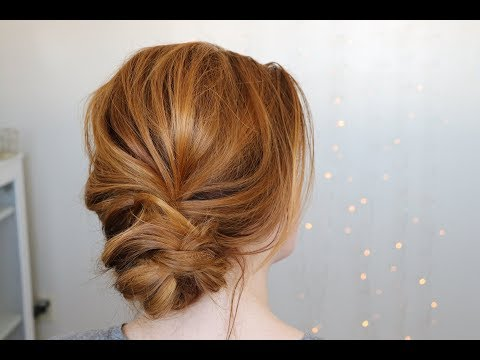 Chic Messy Low Bun Hairstyle