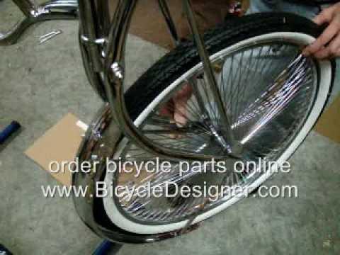 "Lowrider Bicycle 16/"" 28 Spoke Front Wheel Chopper Cruiser Trike Bike"