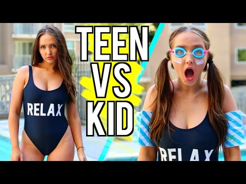 Thumbnail: Teen VS Child You Summer Break | Kenzie Elizabeth