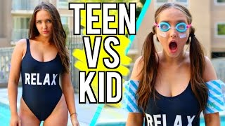 Teen VS Child You Summer Break | Kenzie Elizabeth