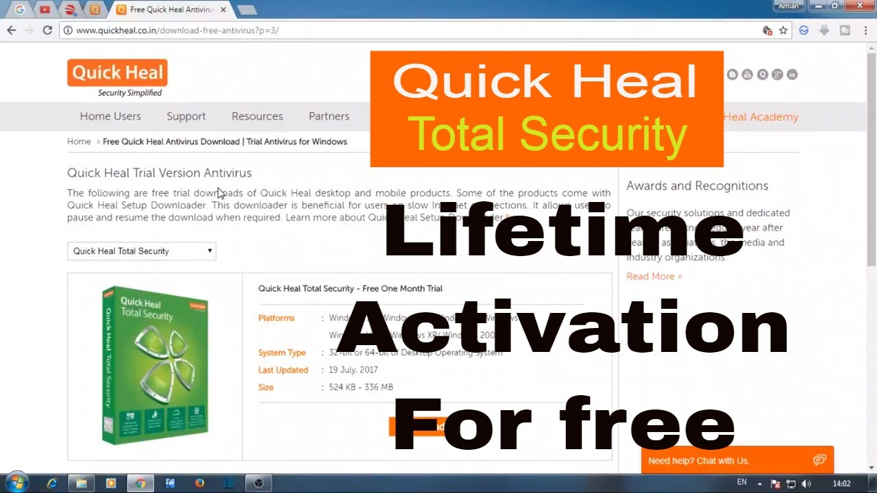 Quick heal total security free download for windows 10, 7, 8/8. 1.