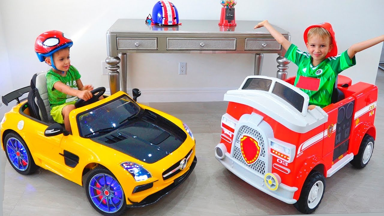 Download Vlad and Nikita show cars toys in new home