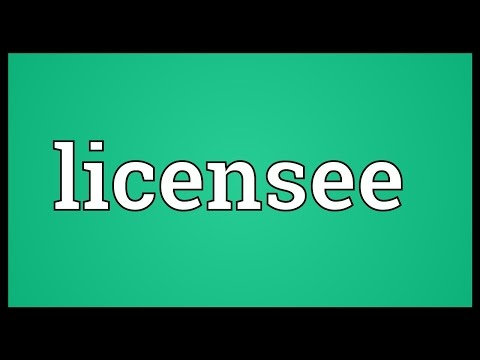 Licensee Meaning