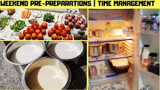 Time Management Tips|Weekend Pre-preparation Vlog| Monthly & Weekend Pre-Planning  for Week Days