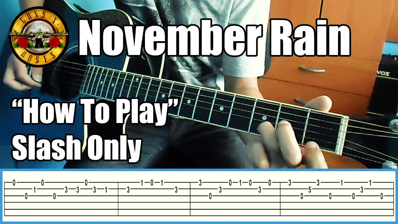 guns n roses november rain slash only with tabs rhythm guitar