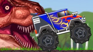 Monster Truck | Monster Truck In Jurassic Land | Dinosaur World thumbnail