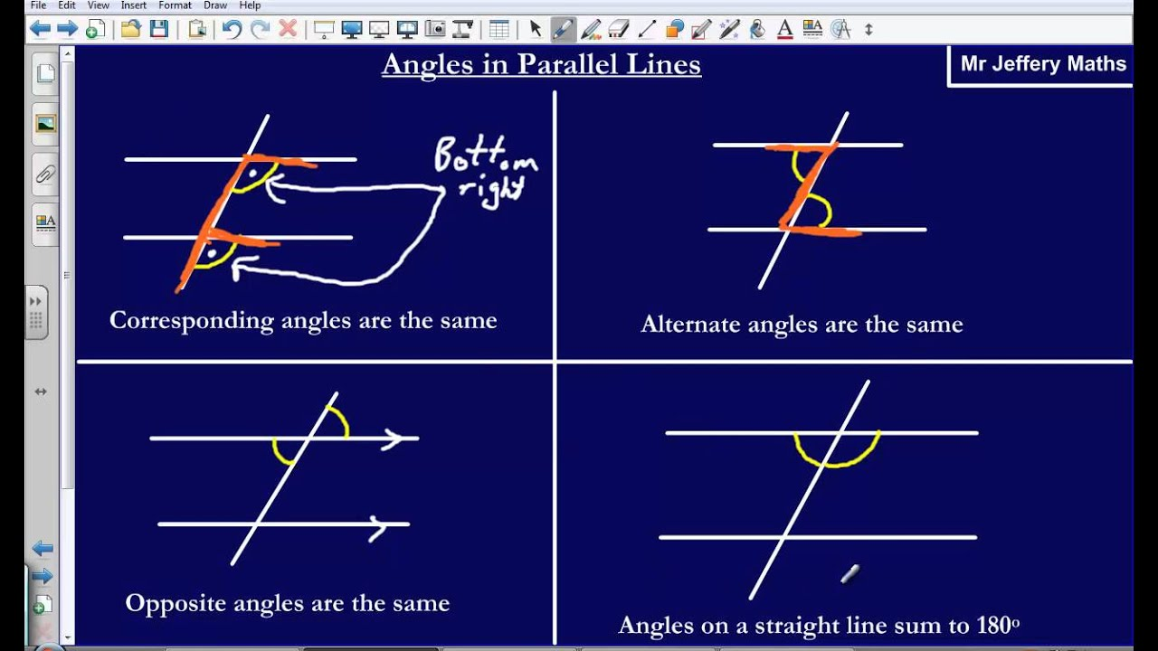 Angles in parallel lines (Edexcel GCSE Maths) - YouTube