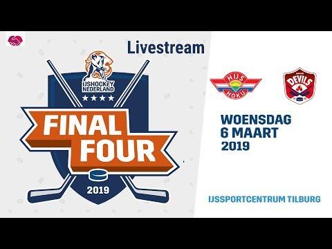 Live IJshockey Finale Final 4 HYS Den Haag vs. Ahoud Devils 6 maart 2019 20:15 uur.