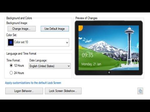 Как сменить изображение на экране блокировки и сцет фона Windows 8/8.1 ?
