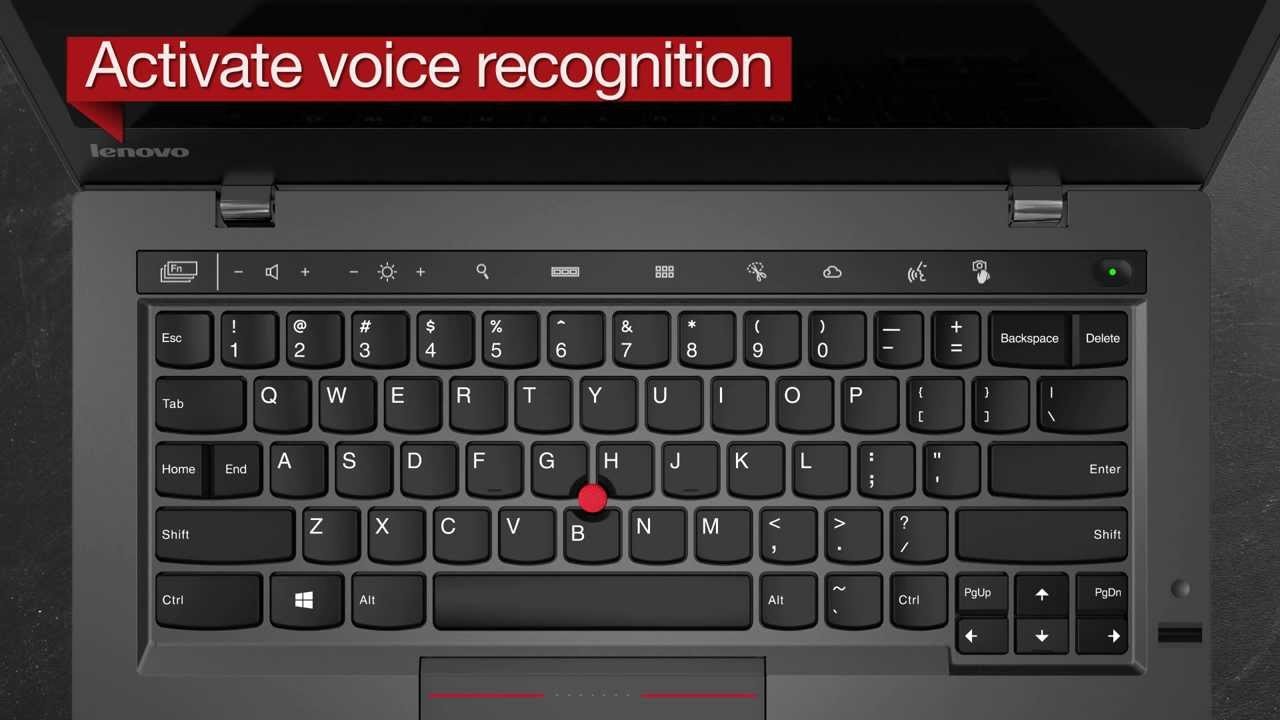 The New X1 Carbon: Activate Voice Recognition - YouTube