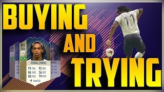 Buying And Trying Ronaldiniho 91 Icon Card Fifa 18 Player Review Gameplay Ronald