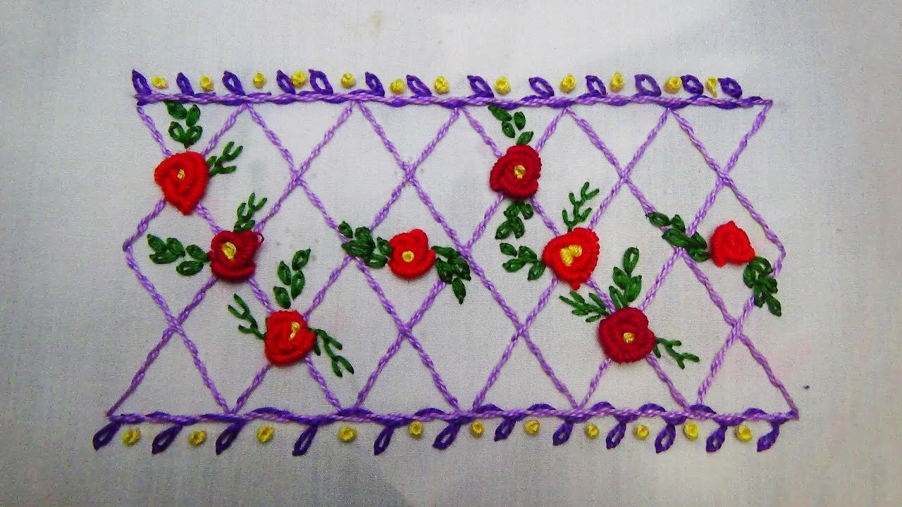 Hand Embroidery Border Stitch Youtube