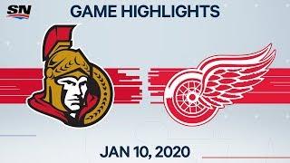 NHL Highlights   Senators vs Red Wings – Jan. 10, 2020