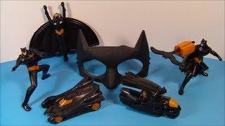 2013 BEWARE THE BATMAN SET OF 6 McDONALD'S HAPPY MEAL CARTOON TOY'S VIDEO REVIEW