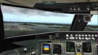 Delta CRJ-200 Landing at LaGuardia Airport NYC