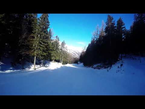 Skiing Le Tour Balme and Vallorcine in Chamonix, France 01/02/2017