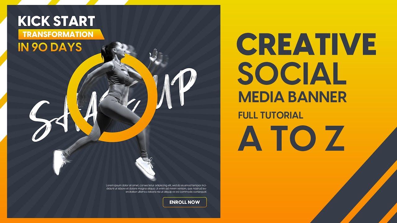 Social Media Banner Design Gym Banner Design Youtube