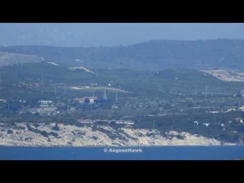 Turkish Coast Guard SAR AB-412 EP flying south of Cesme port.