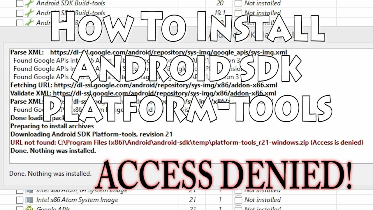 Android SDK Platform-tools not installing? Watch this!