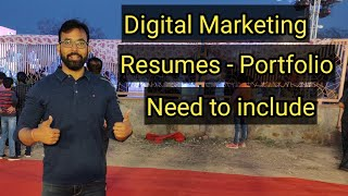 Digital Marketing Resume Portfolio Making Idea | SEO Resume | Social Media Resume