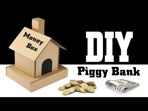 How to Make Piggy Bank Money Saver Cardboard House – DIY Money Box