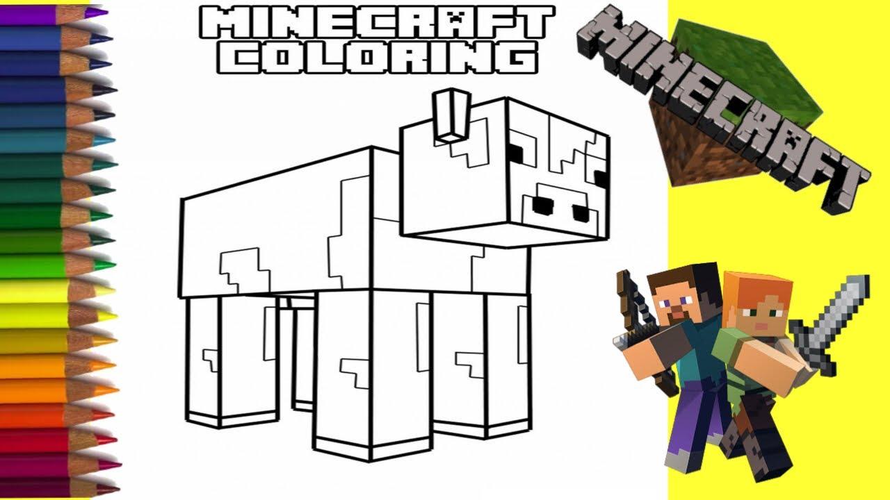 Mewarnai Gambar Lego Minecraft Mewarnai Anak Anak Tk
