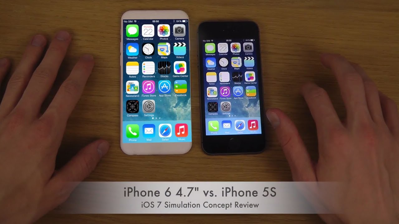 iphone 4 vs iphone 5s iphone 6 4 7 quot vs iphone 5s ios 7 simulation concept 17345