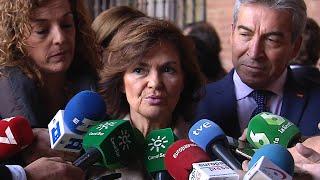"""Carmen Calvo defiende su pasado """"limpio"""" en la política"""