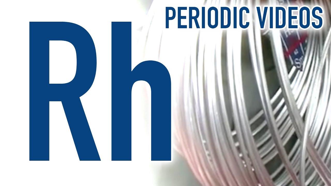 Rhodium periodic table of videos youtube rhodium periodic table of videos gamestrikefo Image collections