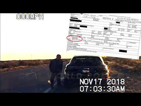 New Mexico State Trooper vs. Porsche SUV @ 132 Mph