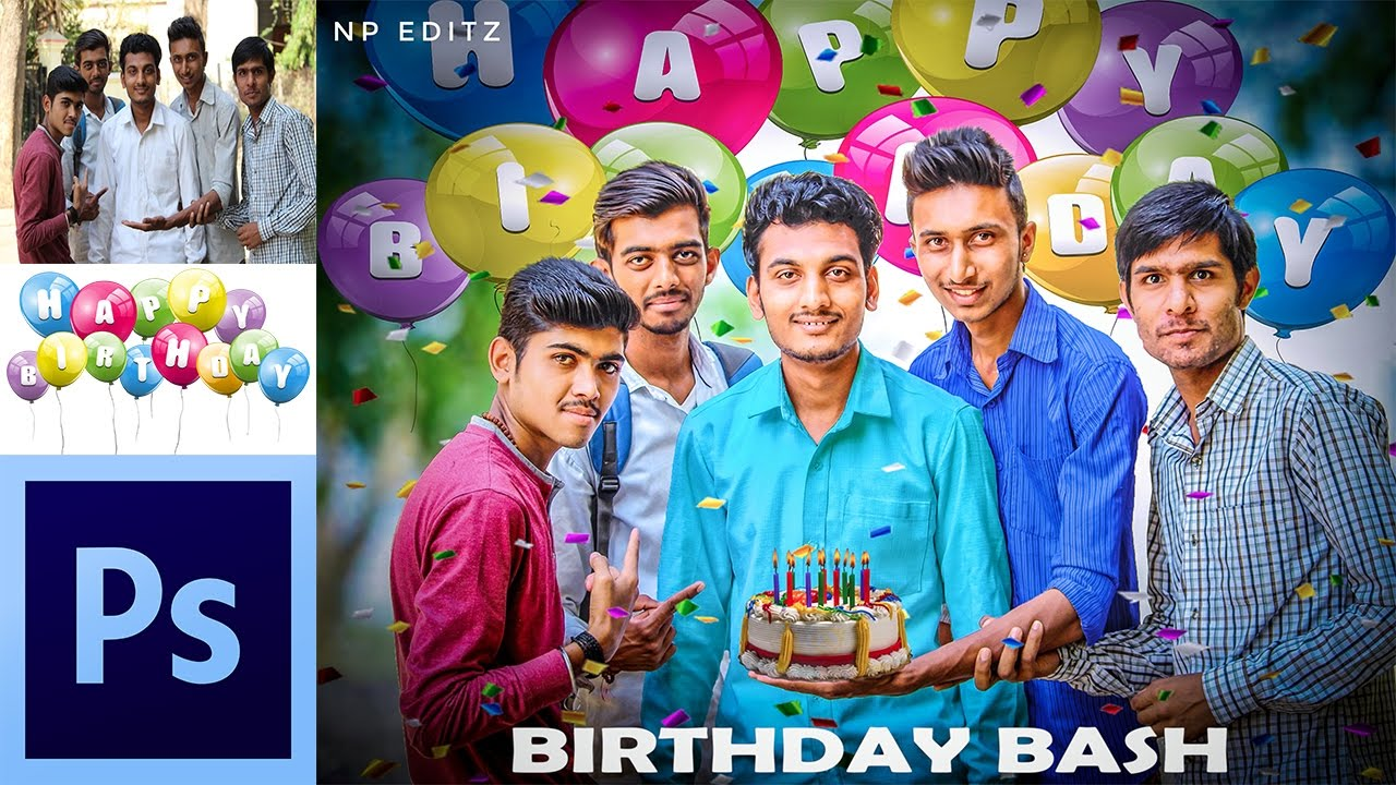 Birthday Special Editting In Photoshop