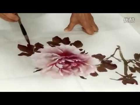 Chinese Brush Flowers Painting Techniques #2