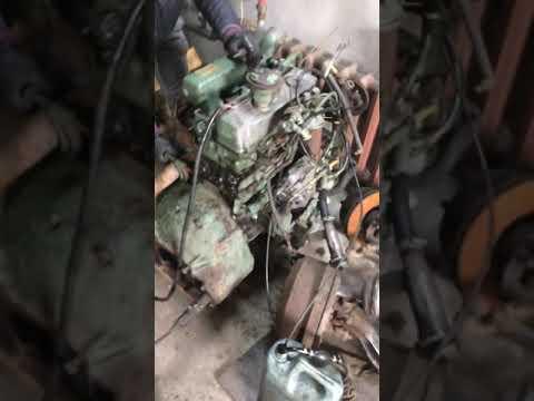 Заводим двигатель Mercedes REX 4.0 турбо дизель. OM364A.