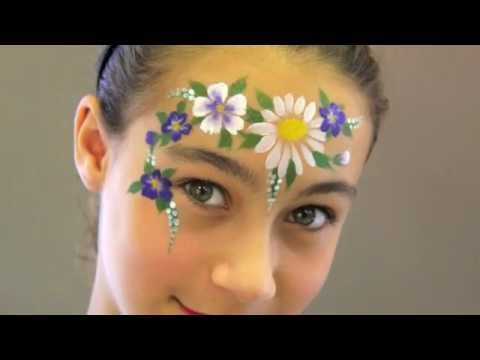 FLOWERS FACE PAINTING MAQUILLAGE POUR ENFANTS YouTube