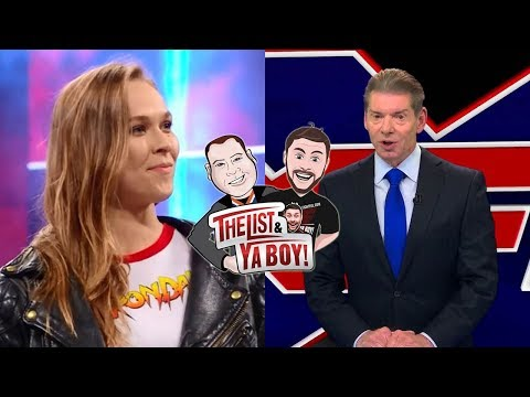 The List & Ya Boy Wrestling Podcast #57: Ronda Rousey To WWE, XFL, Royal Rumble, Smackdown Graphics