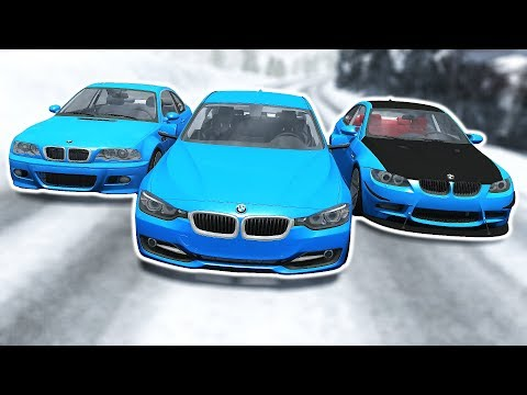 High Speed BMW Crashes #2 - BeamNG Drive
