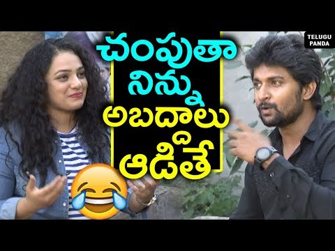 #Awe Movie Team Interview | Nani Funny Comments To Nithya Menen | Kajal Aggarwal | Telugu Panda