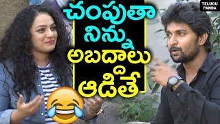 #Awe Movie Team Interview | Nani Funny Warning To Nithya Menen | Kajal Aggarwal | Telugu Panda