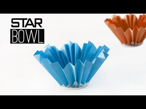 Star Bowl   Paper BOWL   Papercraft