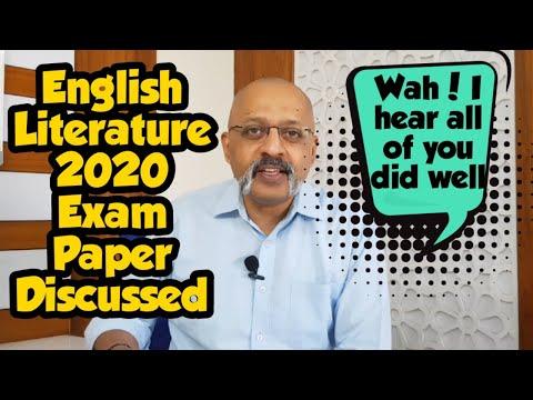ICSE 2020 English Literature Exam Paper Discussed | Class X | T S Sudhir