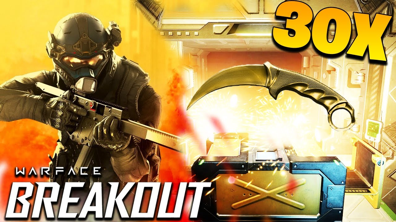 OPENING 30x LOOT CRATES ON WARFACE BREAKOUT - PS4 GAMEPLAY - YouTube