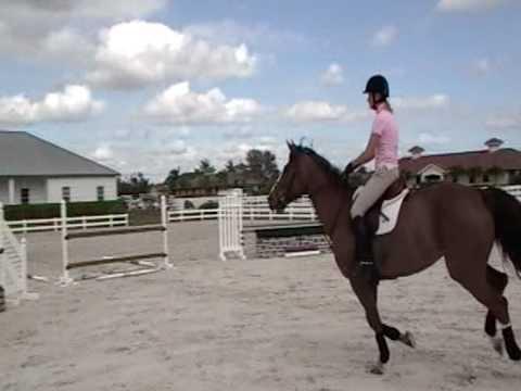 Tracy Howe riding Bombay