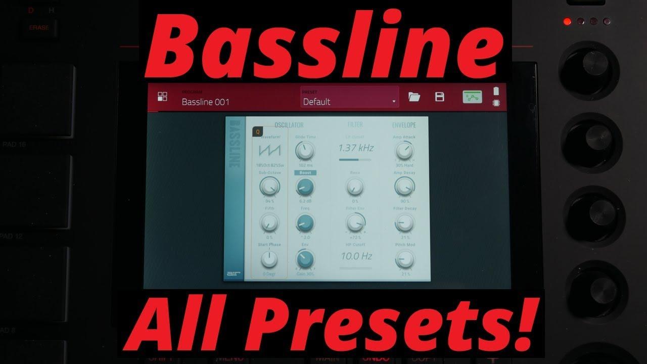 MPC LIVE 2 3 Bassline - All Presets