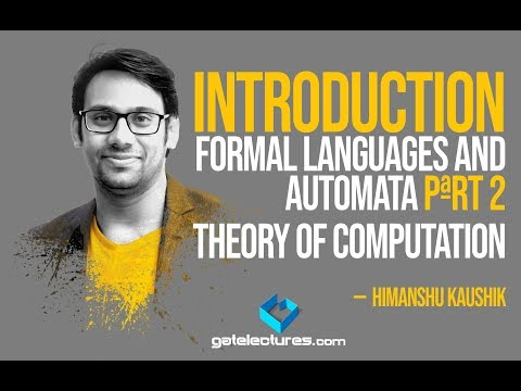 Theory Of Computation 02 Introduction To Formal Languages And Automata