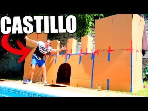 CREAMOS un ÉPICO CASTILLO de CARTÓN en la PISCINA !! Reto del CASTILLO 24h