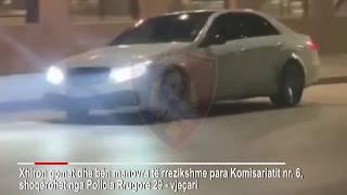 Bëri 'gangsterin' duke xhiruar gomat e makinës pranë komisariatit, policia i bën gjëmën