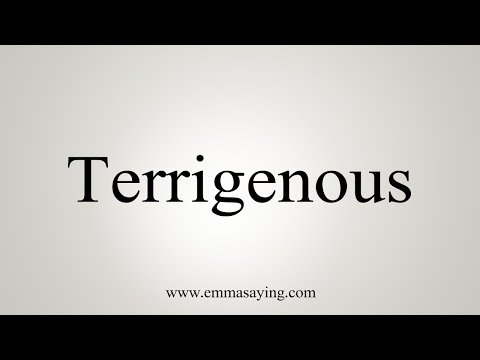 How To Pronounce Terrigenous