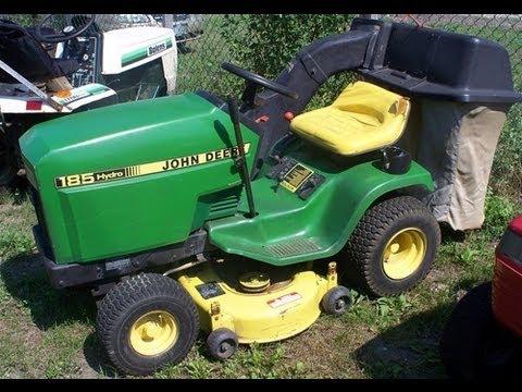 John Deere 185 lawn tractor transmission service info