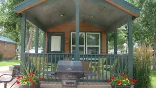 A Look Inside a KOA Deluxe Camping Cabin by RV Education 101