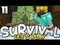 MAKING A MASSIVE MAP WALL! - Survival Let's Play Ep. 11 - Minecraft Bedrock (PE W10 XB1)